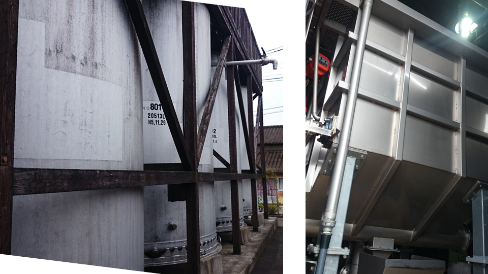 焼酎蔵「明るいの農村」 霧島蒸留所のたる貯蔵樽