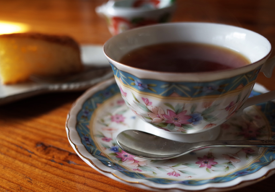 古民家カフェ「木もれび」 紅茶 デザート 霧島市国分
