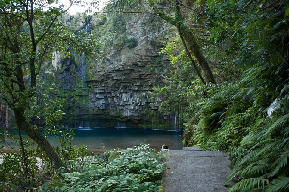 遊歩道から見た雄川の滝 鹿児島県南大隅町