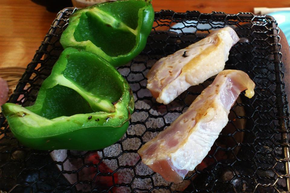 きじ胸肉と野菜の炭火焼き 「きじや」熊本県人吉市