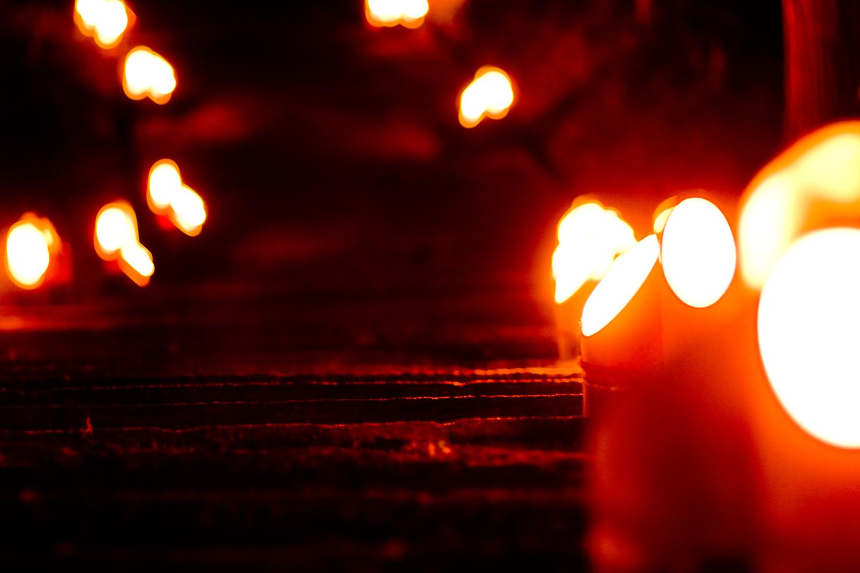 初詣の参道を灯す竹あかり「熊野神社」湧水町