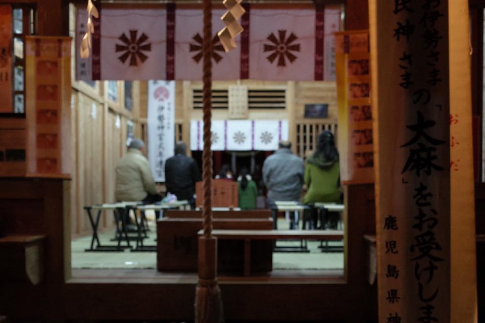 初詣の参拝客「熊野神社」湧水町