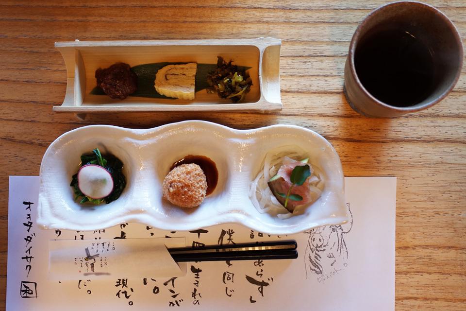 前菜 沖田黒豚牧場の牧場民宿レストラン「和(のどか)」