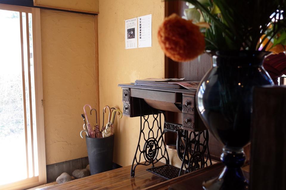 カフェ玄関「蒲生茶廊ZENZAI (ぜんざい)」姶良市蒲生町