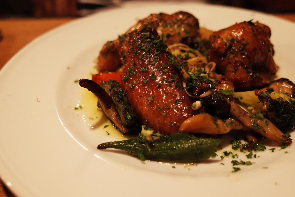 イタリア料理「イサオ・クチーナ (Isao Cucina)」コース料理・メイン(鶏肉)鹿児島県姶良郡湧水町