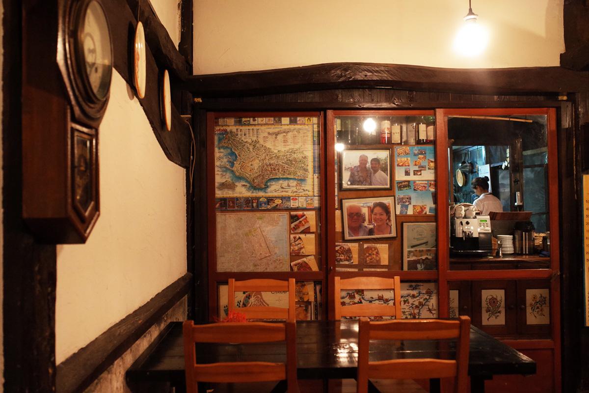 イタリア料理「イサオ・クチーナ (Isao Cucina)」店内インテリア 鹿児島県姶良郡湧水町