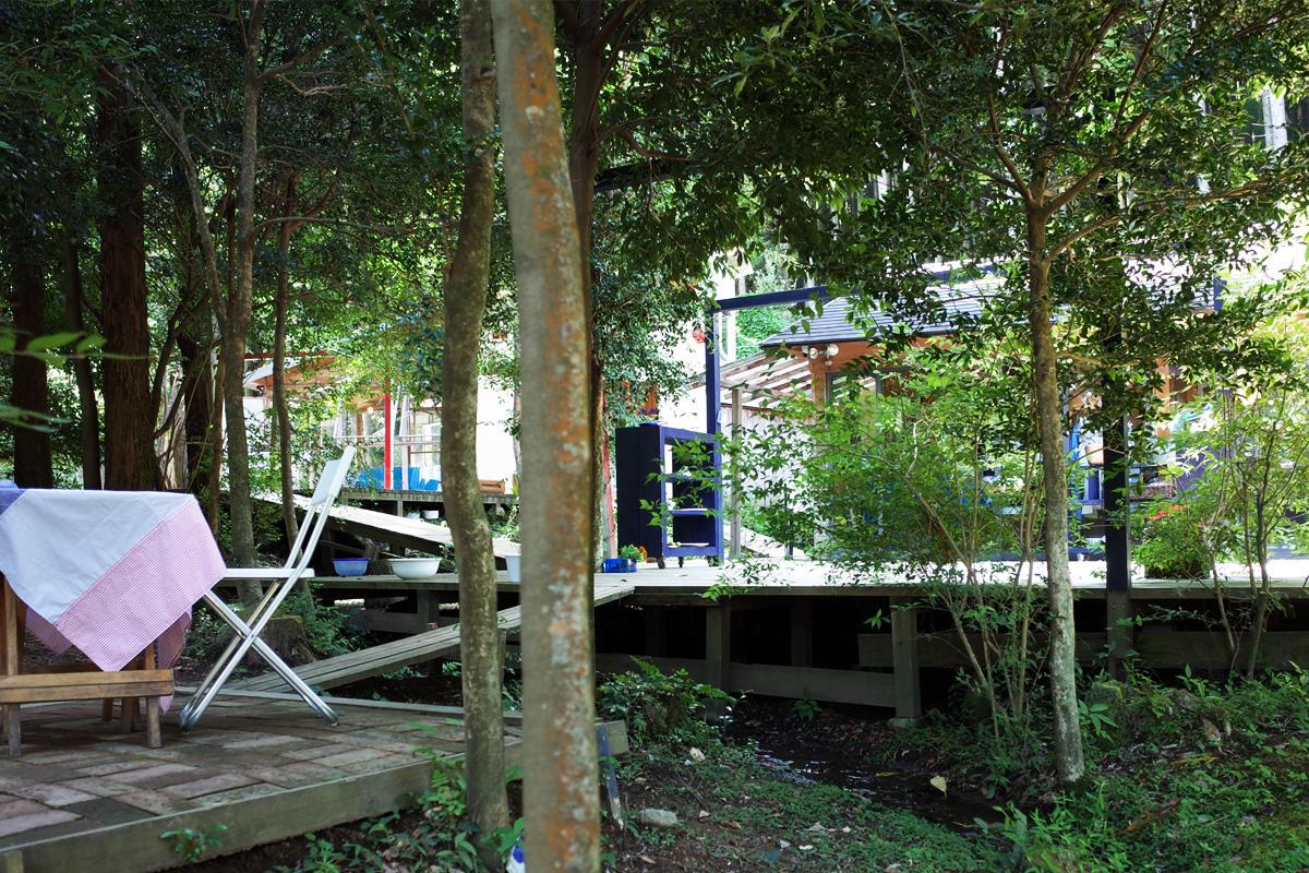 雑貨・アパレル「森のテラス夢楽」外観 霧島市牧園町