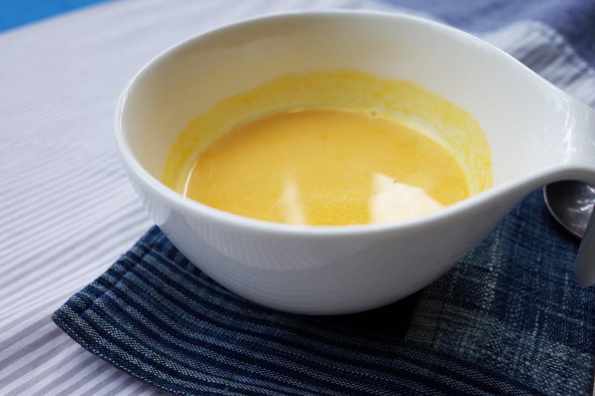 カフェ「きままな台所(キッチン)」かぼちゃのスープ 霧島市牧園町